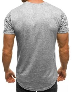 ... Halvány szürke festék fröcskölt mintás póló J.STYLE SS180 b55be19ee4