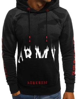 Raktáron ARMY fekete kapucnis pulóver JS DD211 ... 8915a0428a