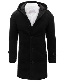 Kedvezmény Raktáron Egysoros fekete kabát ... 41fe7cd473
