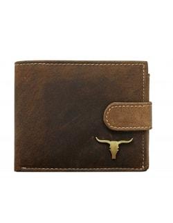 Raktáron Barna pénztárca fém logóval Barna pénztárca fém logóval d5a9e2f846