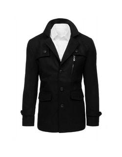 Kedvezmény Raktáron Egyszerű elegáns fekete kabát ... 8311a2a549