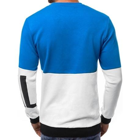 0bfcbcd5cc Trendi kék pulóver OZONEE B/8187 - Legyferfi.hu