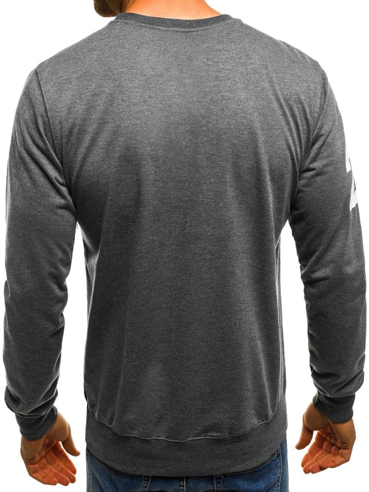 Divatos szürke pulóver OZONEE JS TT98 - Legyferfi.hu 8e37994e26
