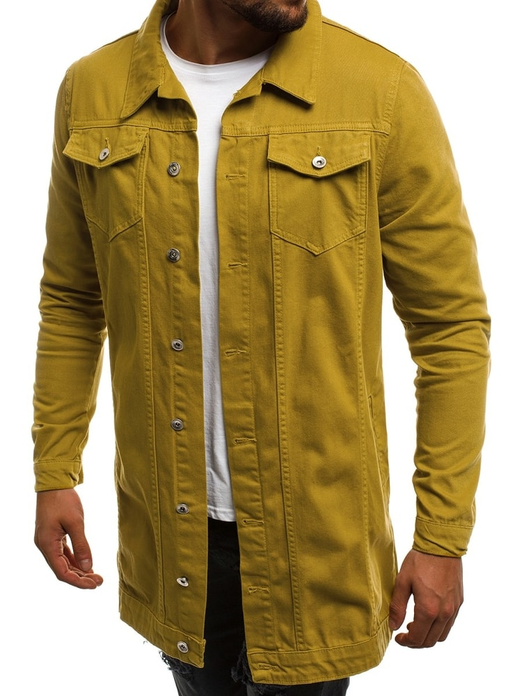 Mustár színű hosszított farmer dzseki OT 2038K 8 - Legyferfi.hu e15873a74a