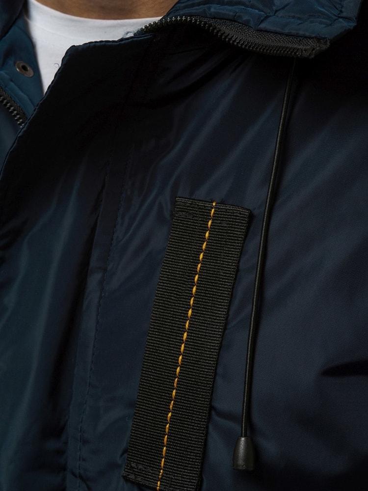 Sötét kék átmeneti dzseki OZONEE JS RZ03 - Legyferfi.hu 890954228d