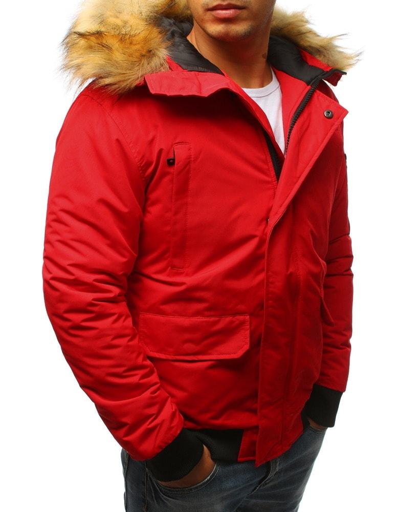 Piros szőrmés téli dzseki - Legyferfi.hu 1b33e7a9cf