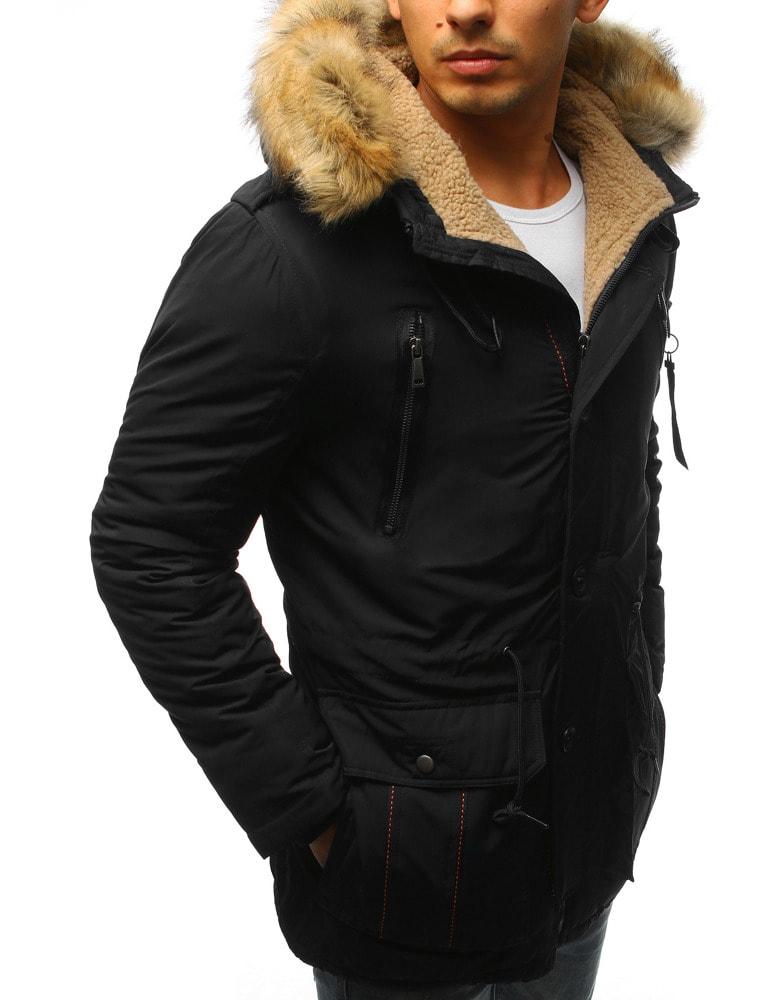 Fekete meleg téli parka kabát - Legyferfi.hu d04cec12bd