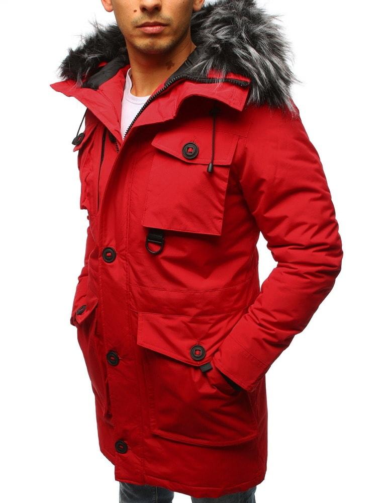 Stílusos piros parka kabát - Legyferfi.hu c893f17cdd