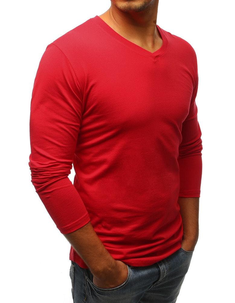 Egyszerű piros hosszú ujjú póló - Legyferfi.hu 6b132fc8fc