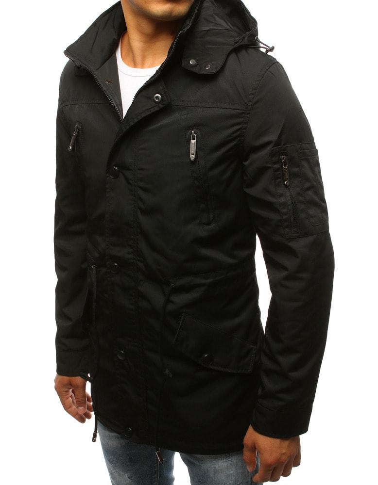 Stílusos fekete parka kabát - Legyferfi.hu 20ff0333d9