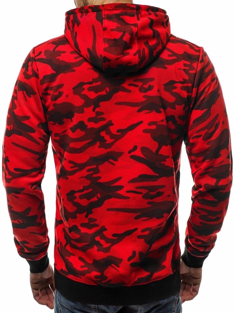 Piros terepmintás kapucnis pulóver OZONEE JS TR16 - Legyferfi.hu dbbc99de6d