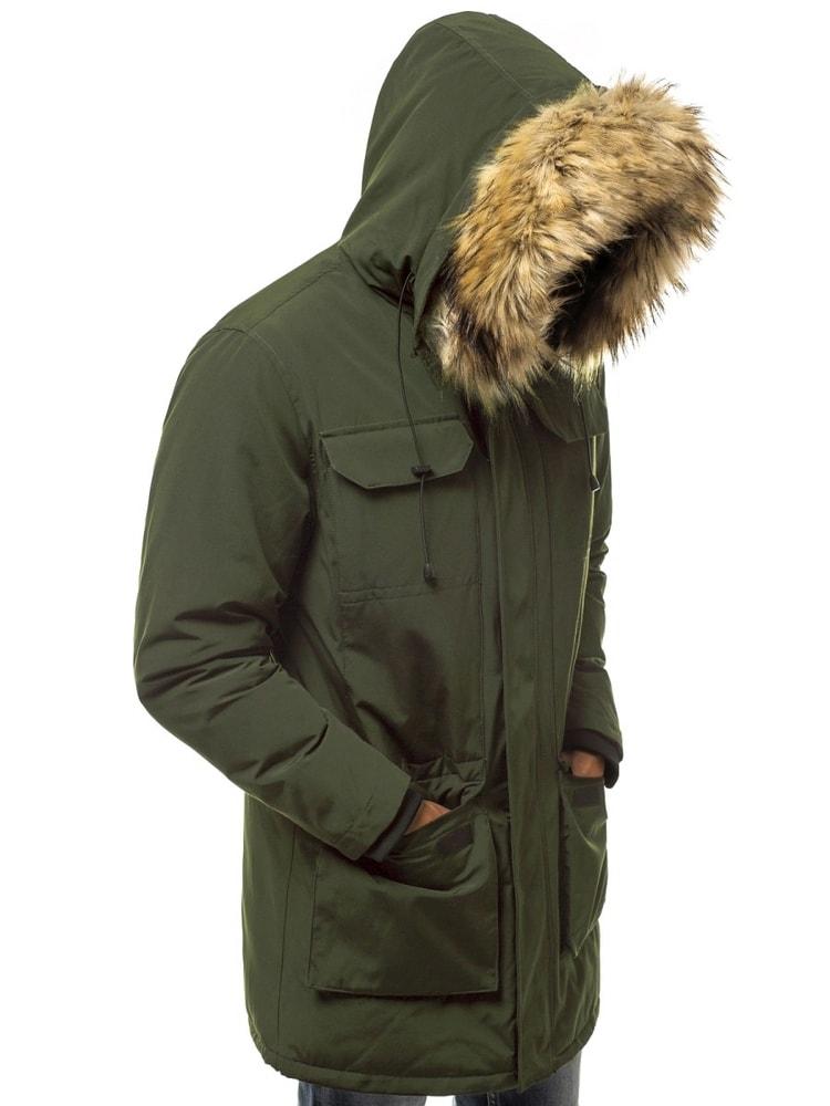 Trendi sötét zöld parka kabát OZONEE JS 201807 - Legyferfi.hu 4236460d81