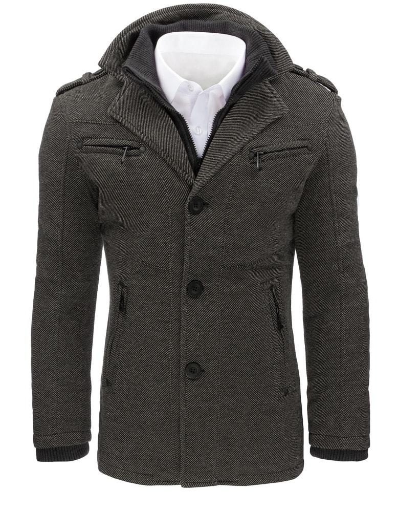 Elegáns szürke férfi kabát - Legyferfi.hu 1d15573ff3