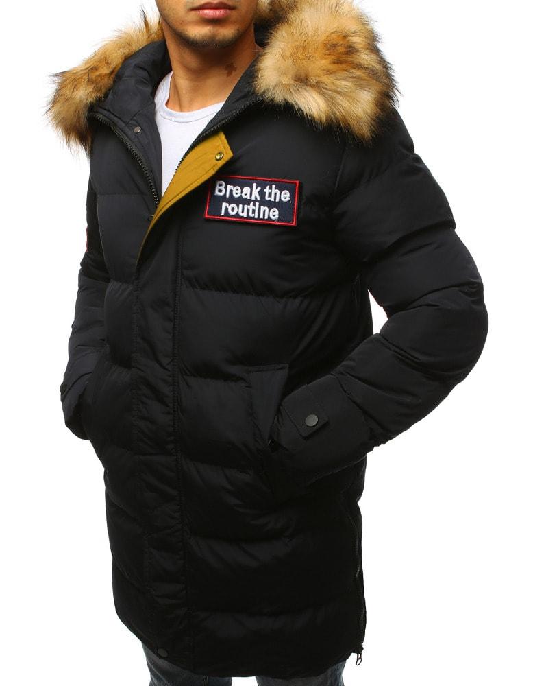 Fekete téli parka dzseki - Legyferfi.hu 860a461371