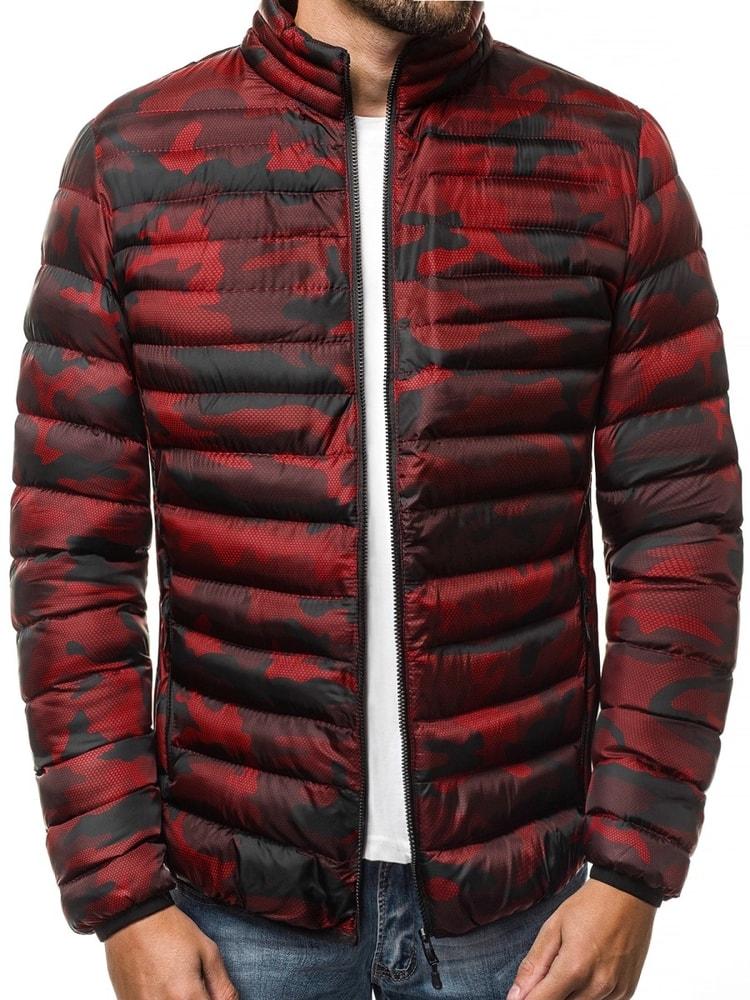 Piros steppelt terepmintás dzseki - Legyferfi.hu d90c279423