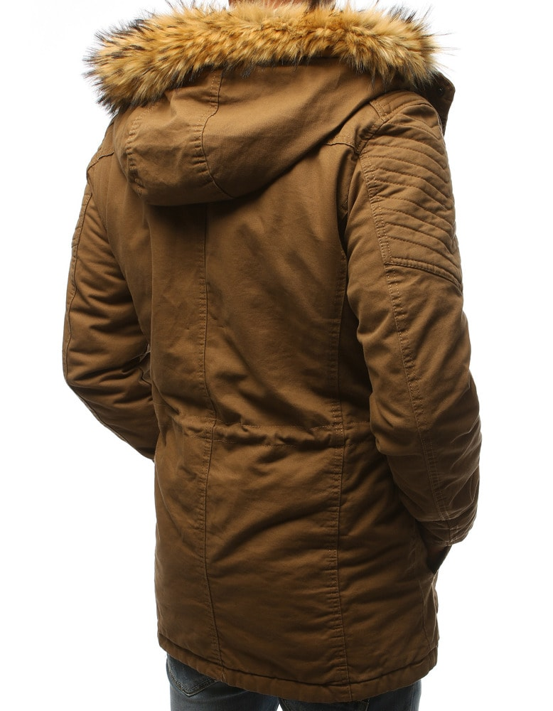 Bézs színű téli parka kabát - Legyferfi.hu b7bd9501c0
