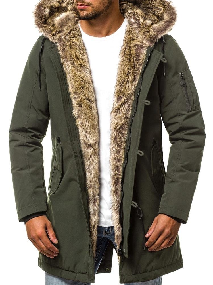 Divatos zöld parka kabát OZONEE N 5390 - Legyferfi.hu 7f71ebe8c4