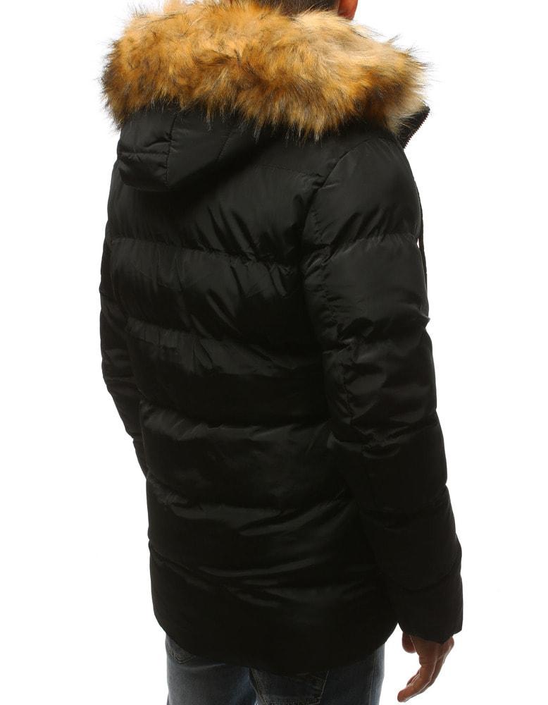 Divatos fekete téli parka kabát - Legyferfi.hu 46cbb10dac
