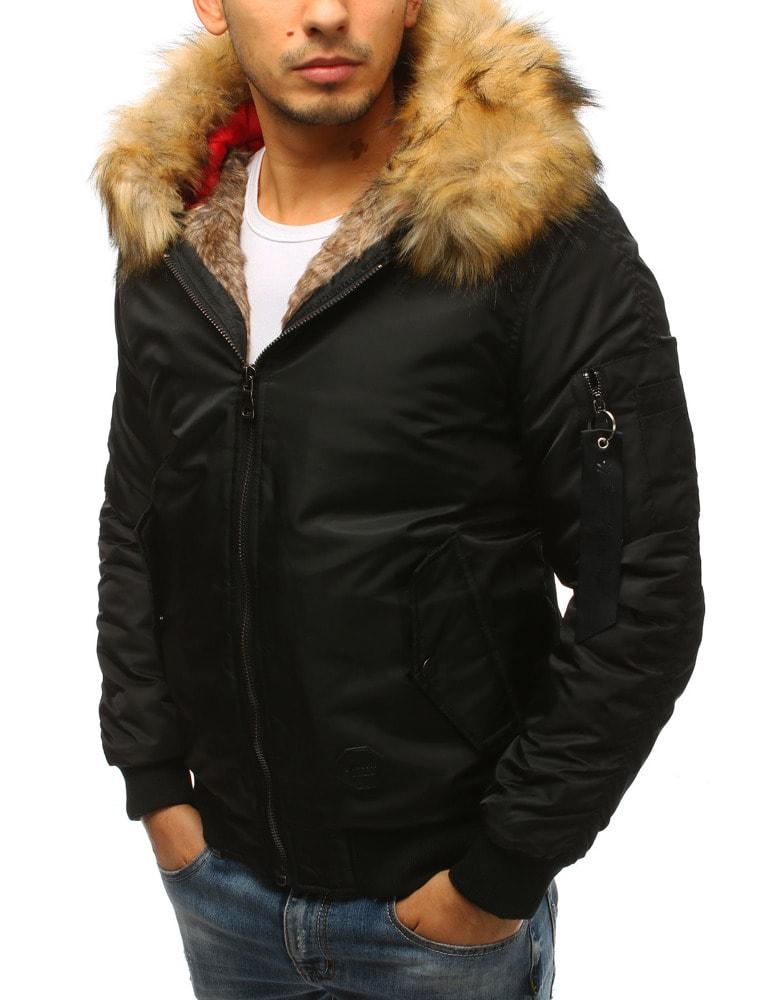 Divatos fekete szőrmés dzseki - Legyferfi.hu 7ee9a65c25