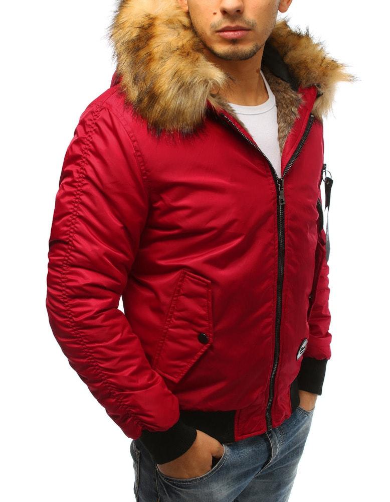 Divatos piros szőrmés dzseki - Legyferfi.hu ae464d993c
