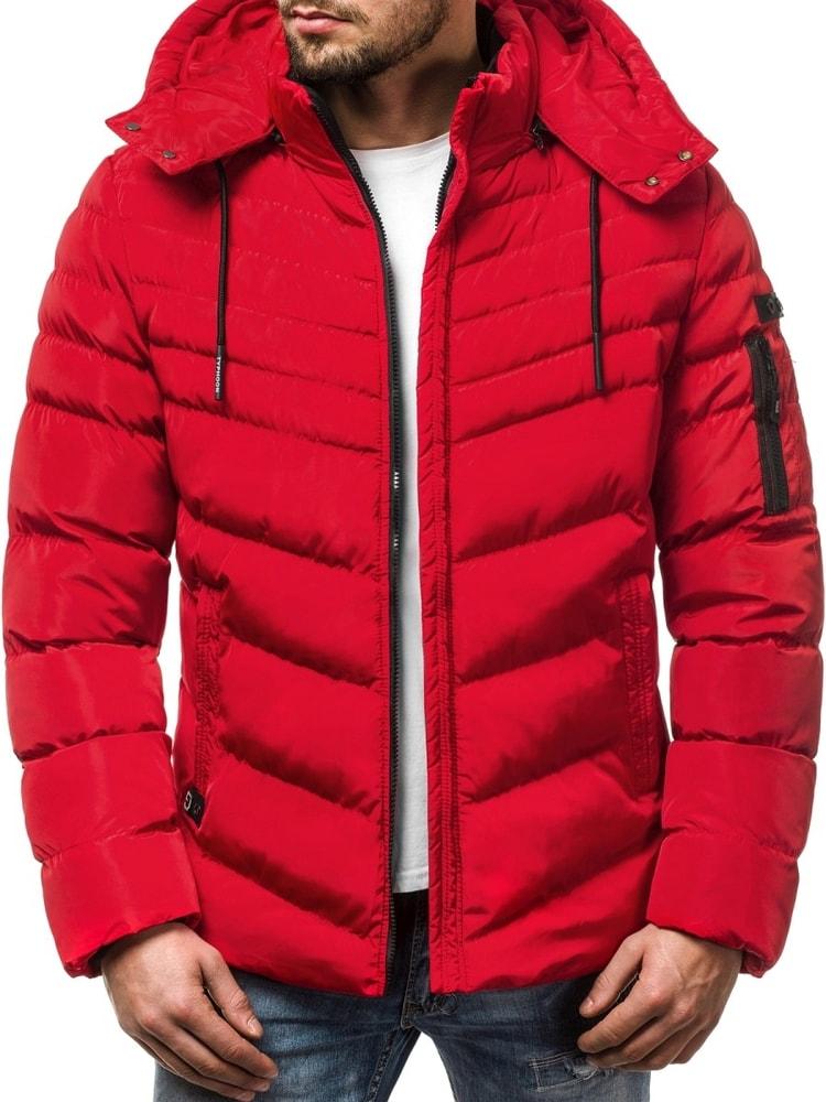 Egyedi piros téli dzseki OZONEE N 5302 - Legyferfi.hu 9d08652c4a