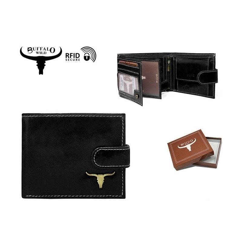 Bőr pénztárca fém logóval - Legyferfi.hu a23c9e6b77