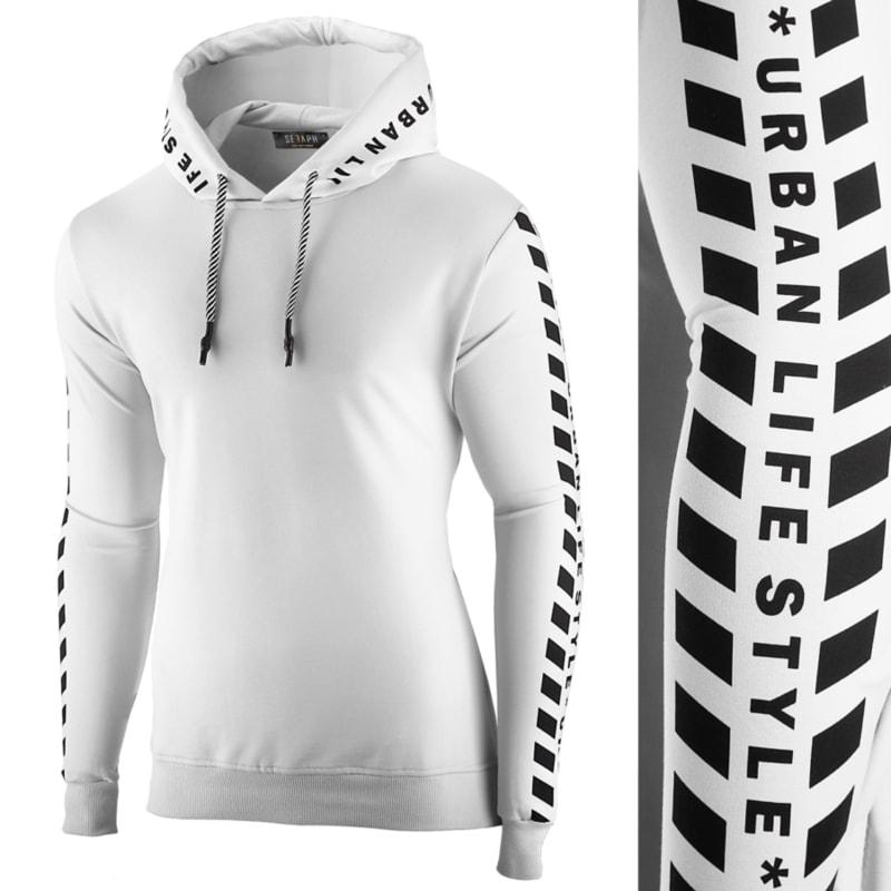 Fehér kapucnis pulóver SRPH - Legyferfi.hu c618146169