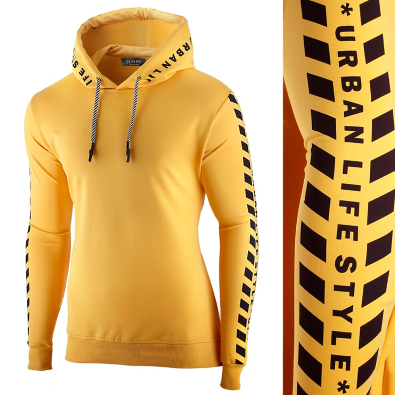 Sárga kapucnis pulóver SRPH - Legyferfi.hu 973180f97a