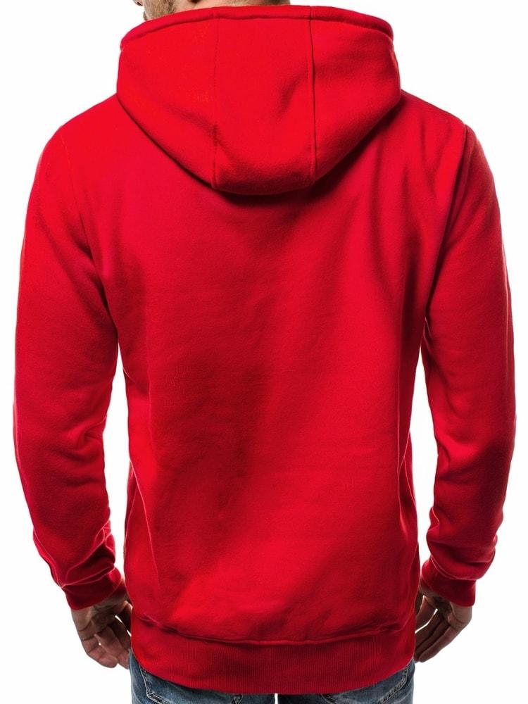 c45ac3b684 Stílusos piros kapucnis pulóver OZONEE JS/11051 - Legyferfi.hu