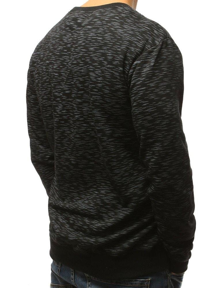 653b8eae47 Fekete melírozott pulóver - Legyferfi.hu