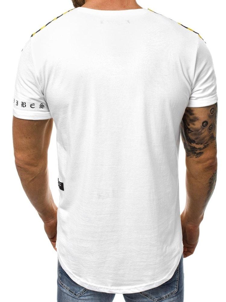 6da65a1245 Egyszerű fehér póló OZONEE B/181394 - Legyferfi.hu