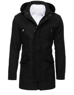 Fekete kapucnis kabát - Legyferfi.hu e8a33c4fff